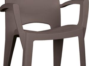Spring – Пластиковый стул с высокой спинкой.